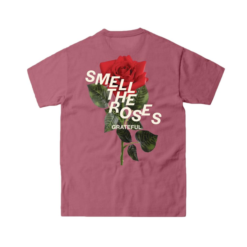 Smell The Roses Staggered Tee Rose Gold