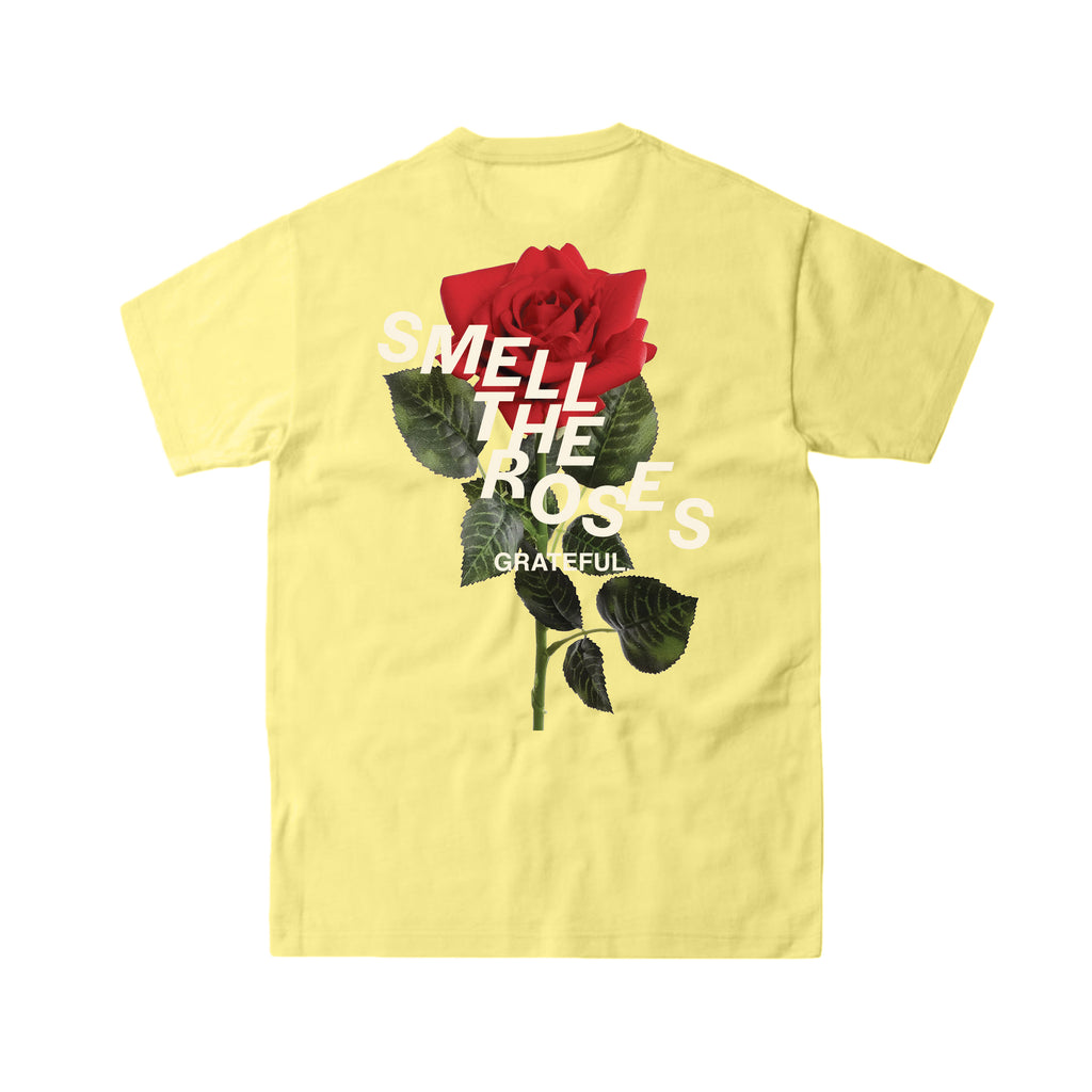 Smell The Roses Staggered Tee Vegas Gold