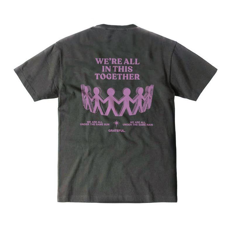"""All in This Together"" Charcoal Tee"
