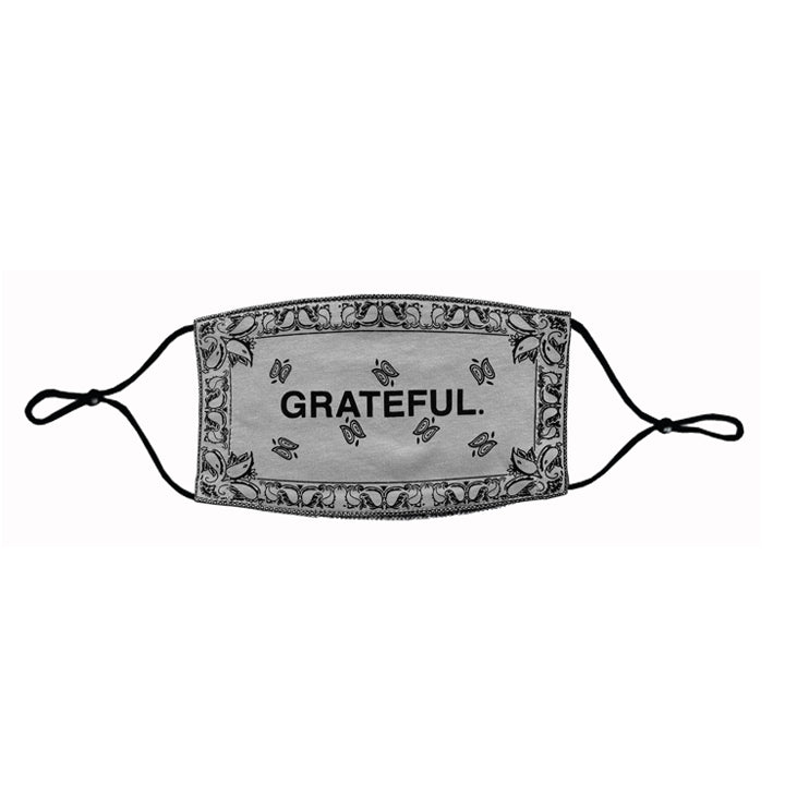 GRATEFUL. Paisley Face Mask (Sand)