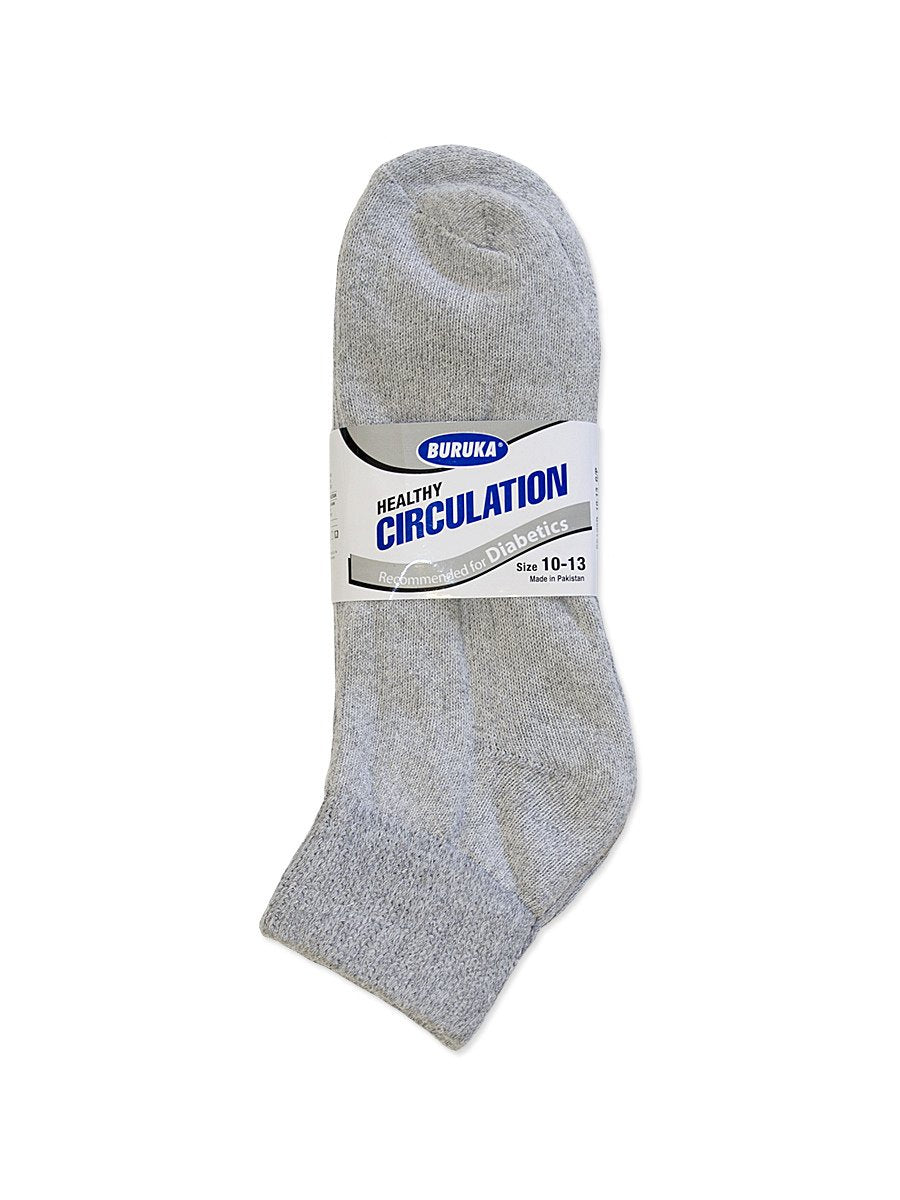 12 PACK OF QUARTER DIABETIC SOCKS - Ward and Parish