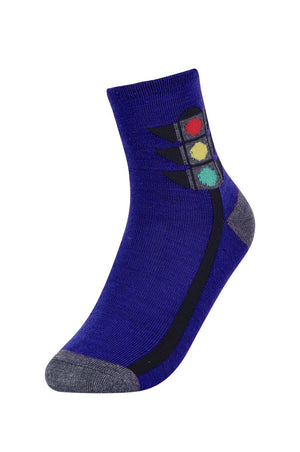Boy's Design Crew Socks