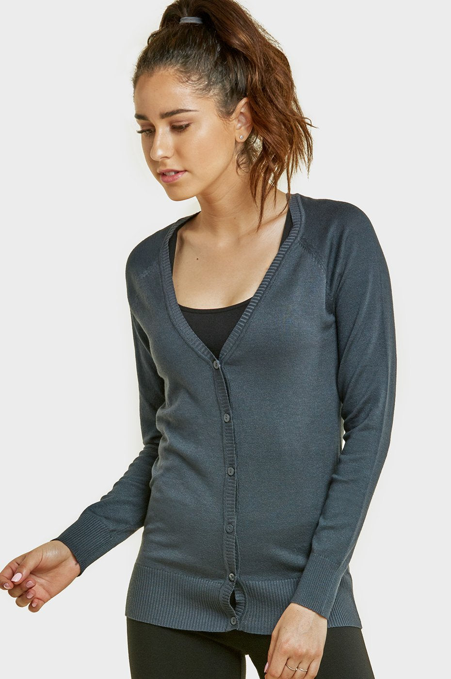 Ladies Rayon Cardigan W/ Buttons