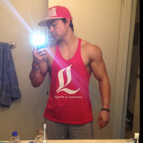 LoA Stringer Tank - RED (wht)