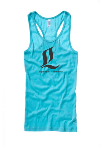 Women's Teal LoA Racerback Tanks