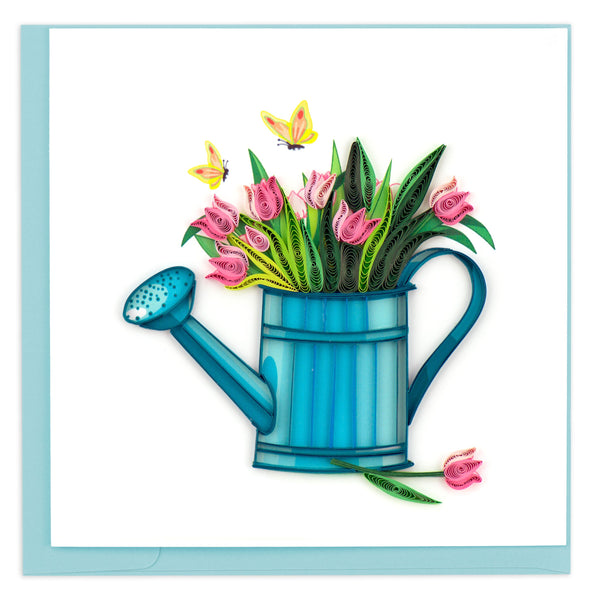 quilled greeting card happy gardening