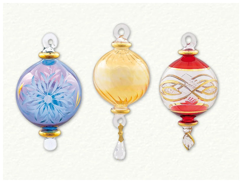 egyptian museum glass ornaments