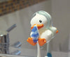 B.Duck Tooth Brush Holder Powder White