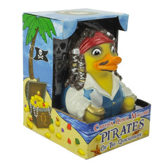 Captain Quack Mallard Pirates Of The Quackibbean Rubber Duckie  'NEW'