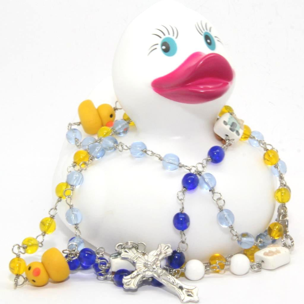 Duckie Rosary Beads Five Decade
