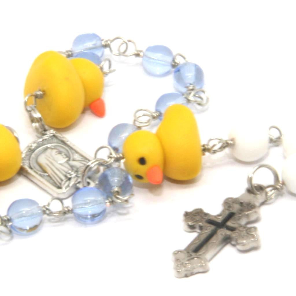 Duckie Rosary Beads One Decade