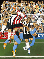 North East Football Art Prints / Personalised Gifts - Derby Day Away
