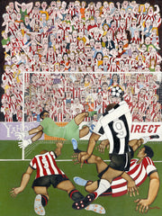 North East Football Art Prints / Personalised Gifts - Derby Day Home