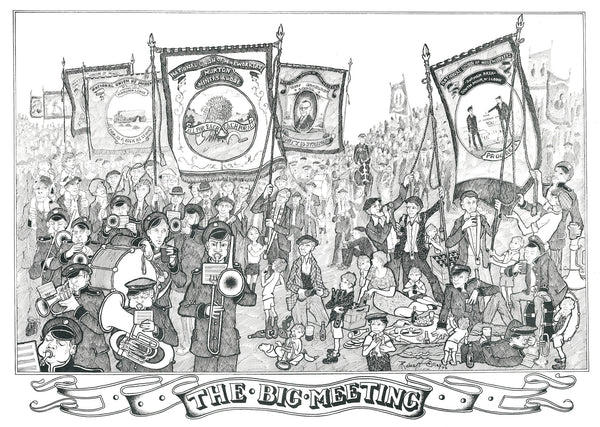 Coal Mining Prints - The Big Meeting, Durham Miners Gala