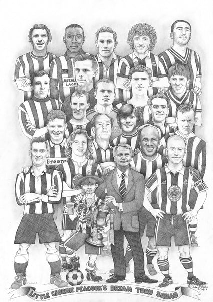 North East Art Prints - Little Geordie Peacock's Dream Toon Squad