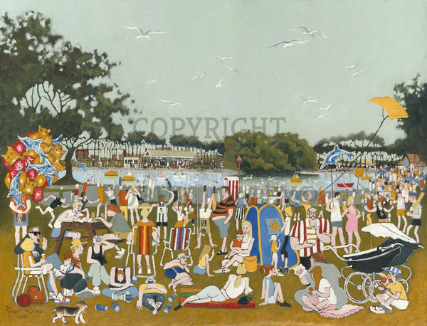 North East Art Prints - Bank Holiday, Marine Park South Shields