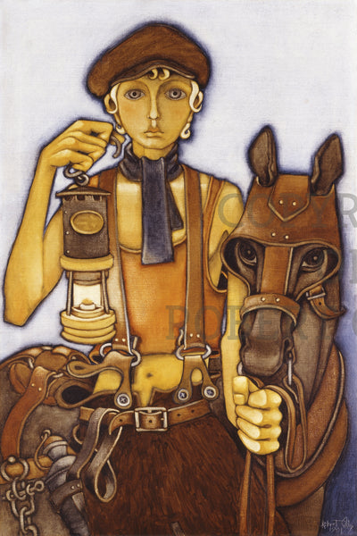 Coal Mining Prints - Pit Boy And Pony