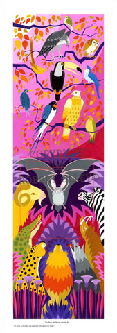 Aesop's Fables print - The Birds, The Beasts And The Bat