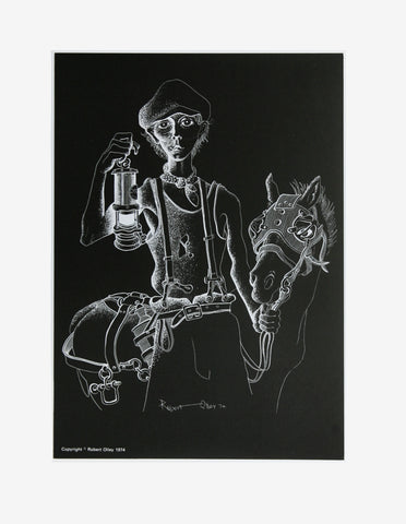 Coal Mining Print - Pit Lad With Pony