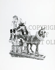 Coal Mining Prints - Going Outbye