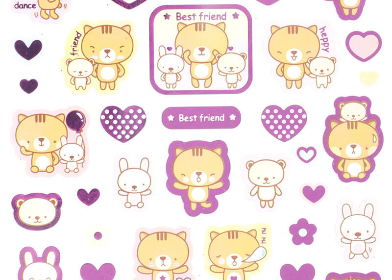 Twinkling Animal Stickers
