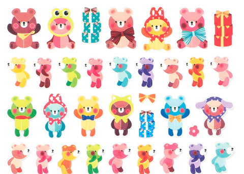 Colourful Bear Stickers