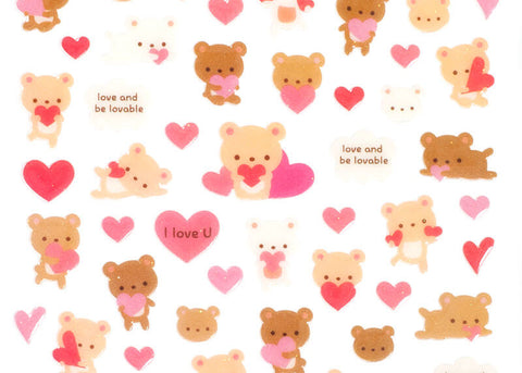Bears in Love Stickers