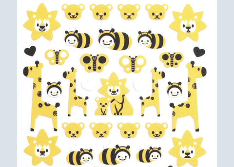 Giraffe and Bee Stickers