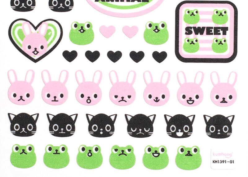 Rabbit and Frog Stickers