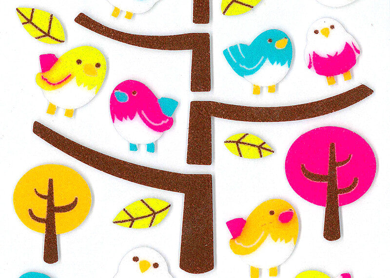 Bird Felt Stickers