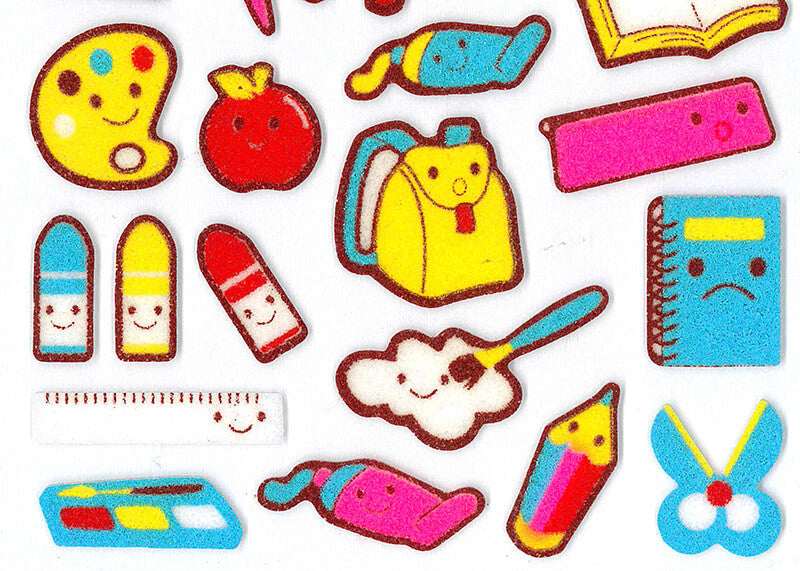School Felt Stickers