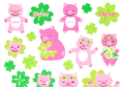 Piggies Felt Stickers