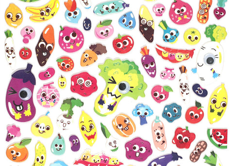 Googly Vegetables Stickers