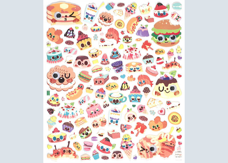 Googly Snacks Stickers
