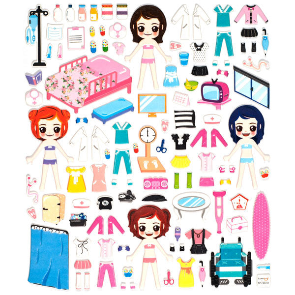 Hospital Dress-Up Stickers