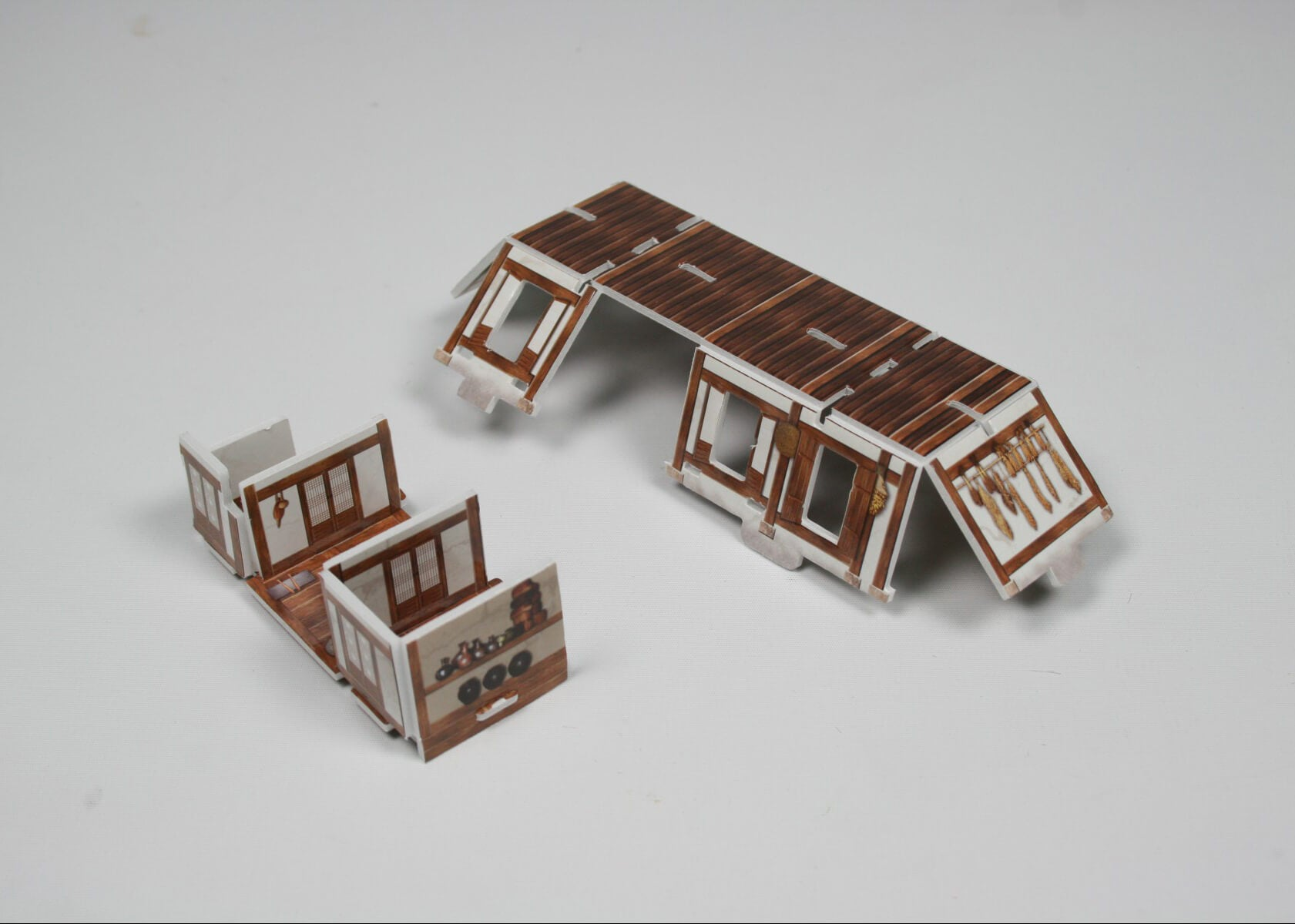 3D Puzzle - Korean Traditional Thatched-Roof House