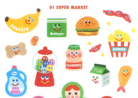 Yummy Friends Deco Stickers