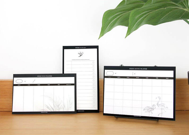 Sticky planner monthly