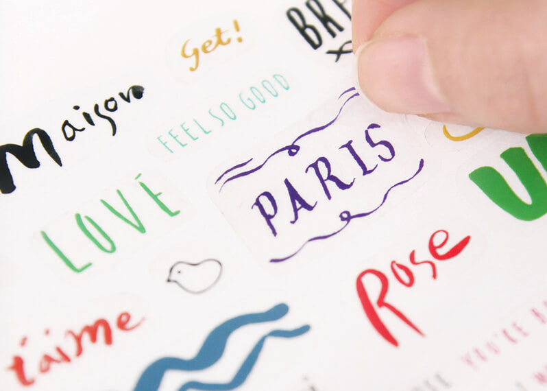 Petit Deco Sticker Calligraphy