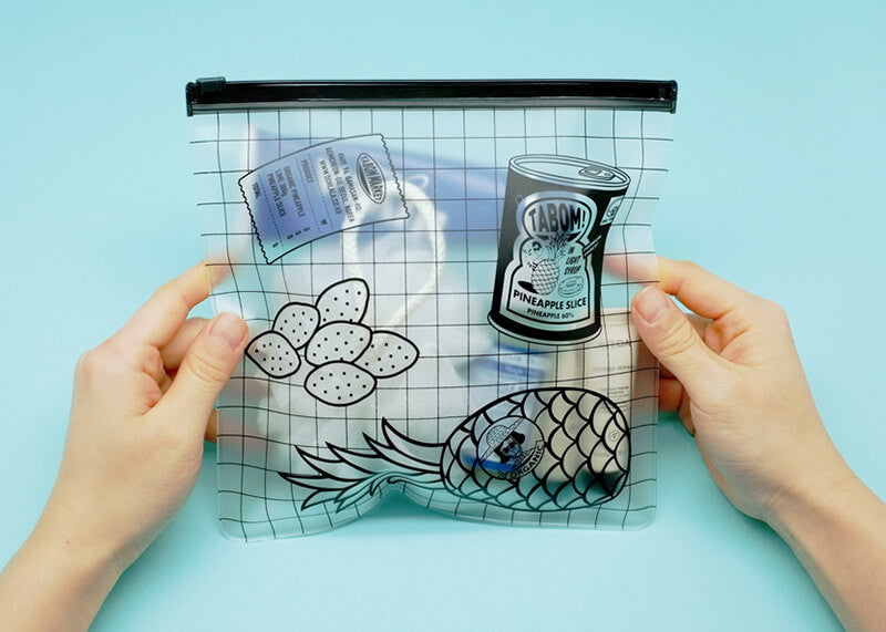 Clear Flat Pouch L