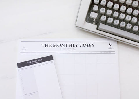 The Monthly Times Desk Notepad