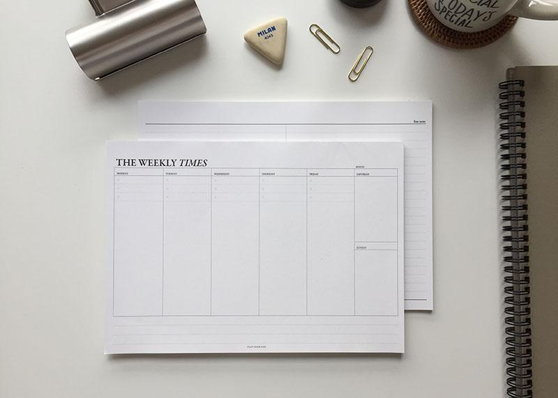 The Monthly Times Desk Notepad Small