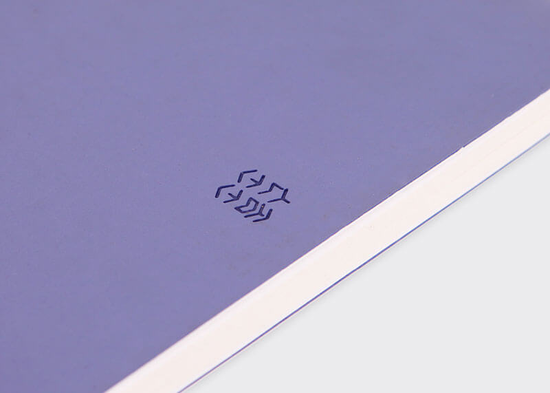 Misty dawn A5 lined notebook
