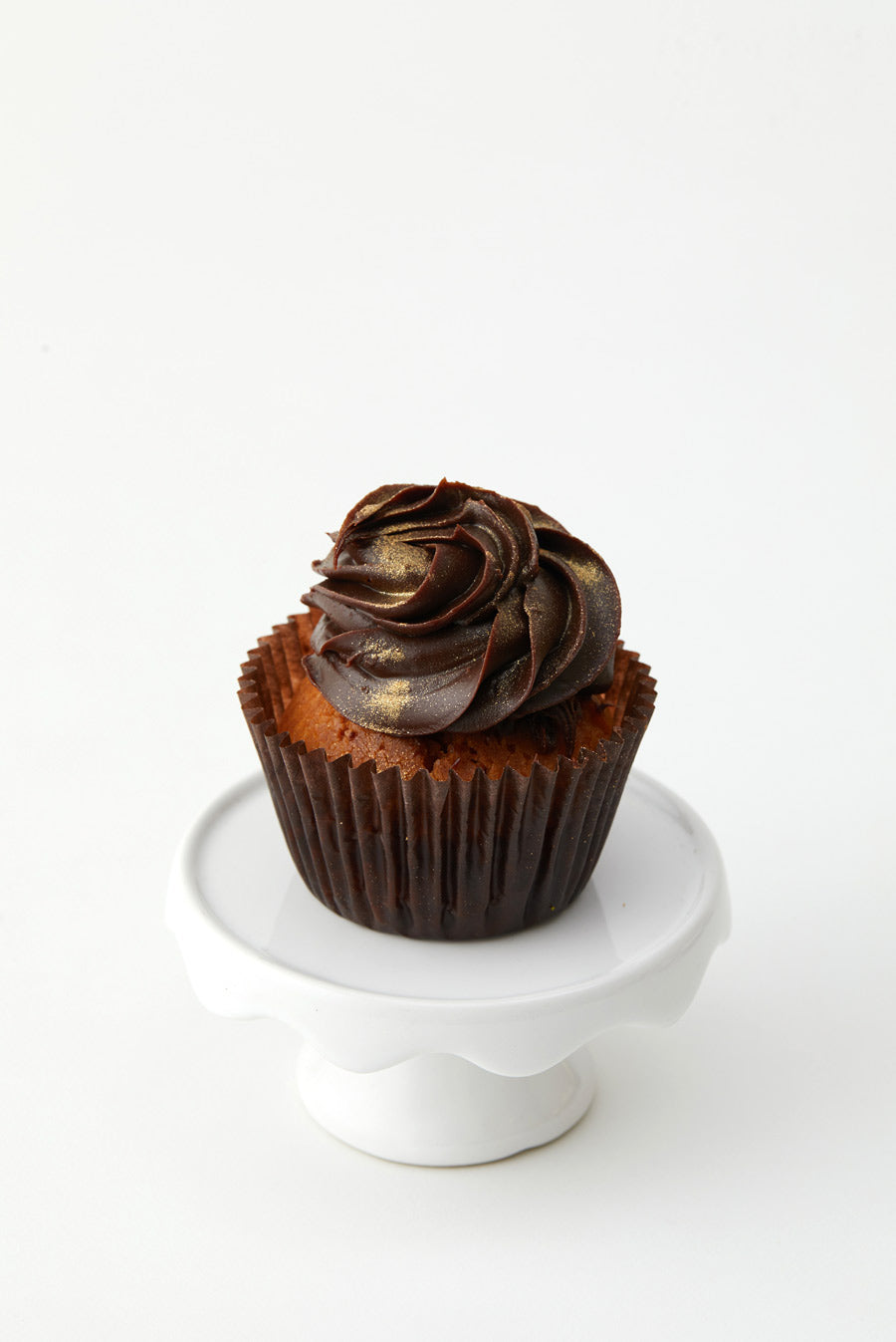 Vegan Banana Cupcake with Chocolate Fudge Ganache