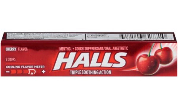 Halls Hard Candy cherry