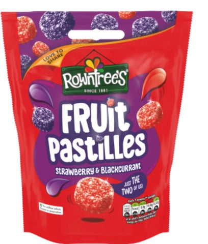 Rowntrees Fruit Pastilles Strawberry $Blackcurrant