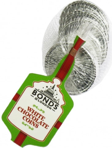 Bonds White Chocolate Silver Coins