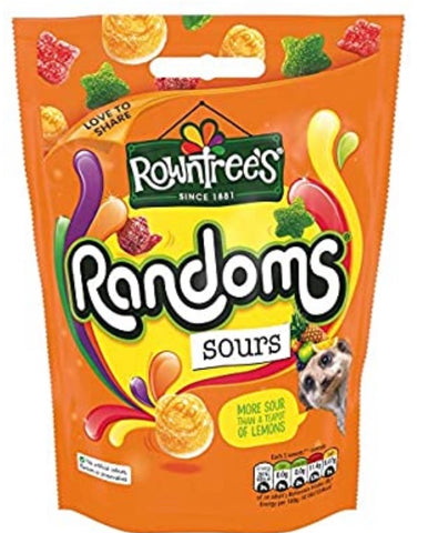 Rowntrees Randoms Sours Sharing Bag 140g