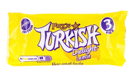 Fry's Lemon Turkish Delight Chocolate Bar 3 pack