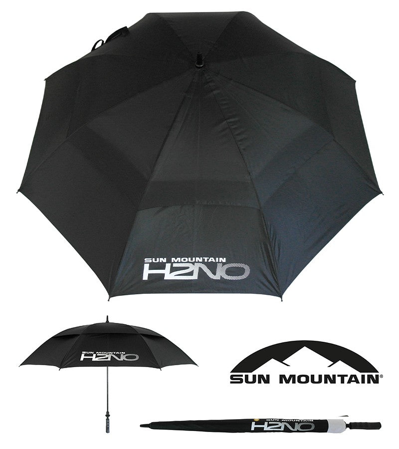 "SUN MOUNTAIN H2NO GOLF UMBRELLA - BLACK 68"" AUTO OPEN"